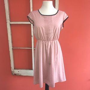 Pink and white polka dot dress